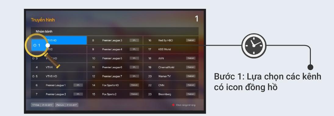 Hướng dẫn xem lại Truyền hình trên FPT Play Box